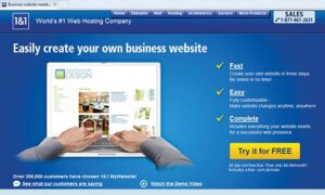 1and1 web site