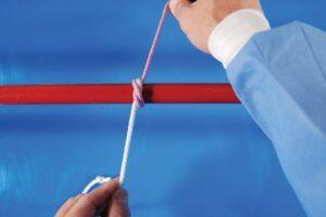 Figure 7C Strangle final knot final