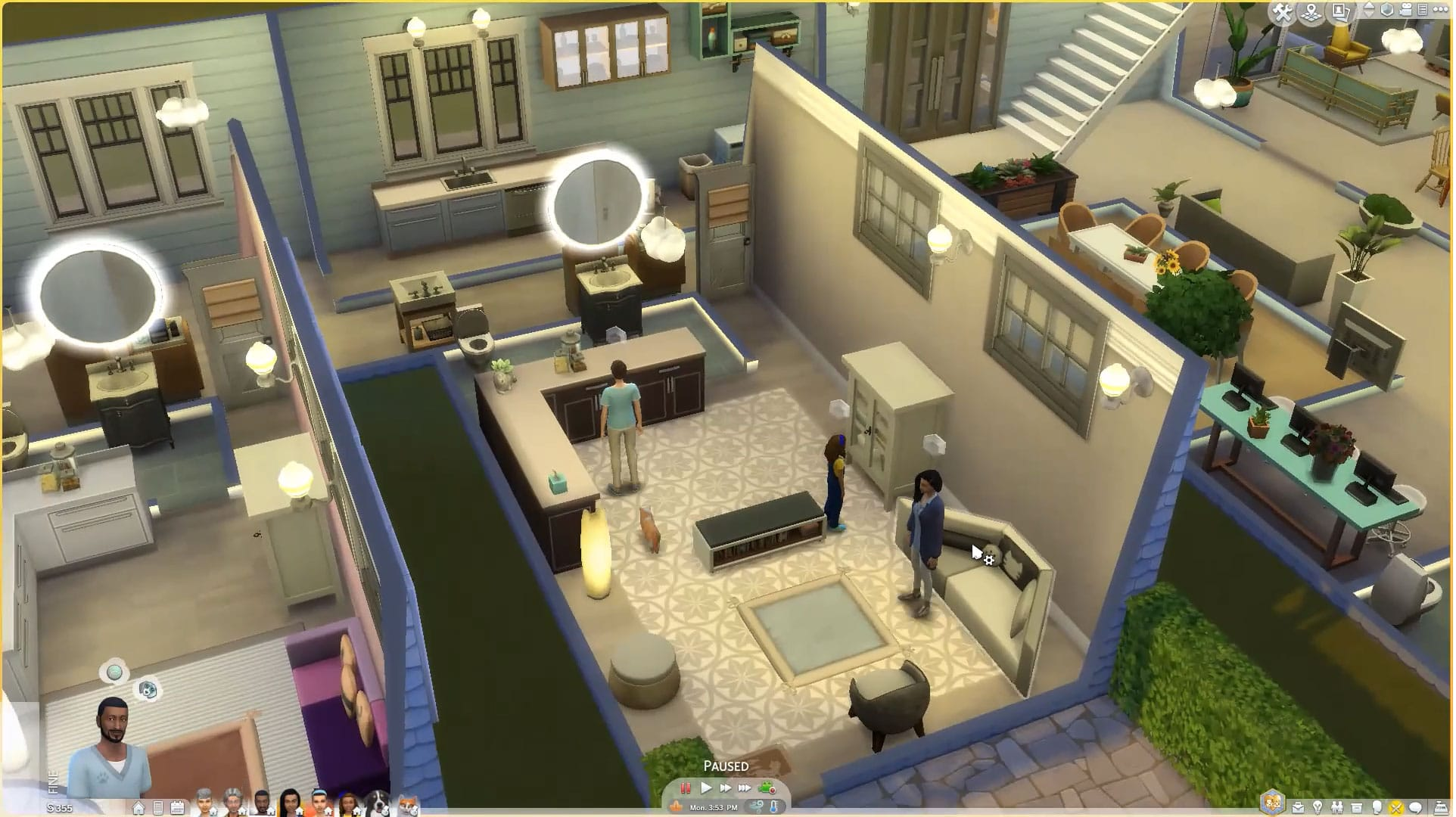 entire veterinary hospital in the video game The Sims