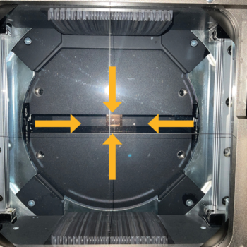 Figure 2. (A) Solid collimator jaws in the treatment head of a modern linear accelerator (yellow arrows). The solid jaws can shape the radiation beam into rectangular shapes.
